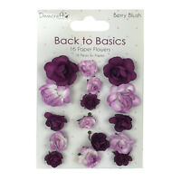 Lot 16 Fleurs Papier 3d Mauve Violet Scrapbooking Carte 2 3cm Mariage Diy