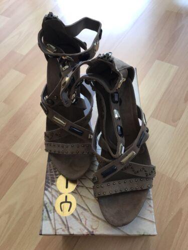 Sandaletten Braun Beige Gold Neu Karton 37 Gr Im Pumps Sandalen Kara Yin Yx0Enq