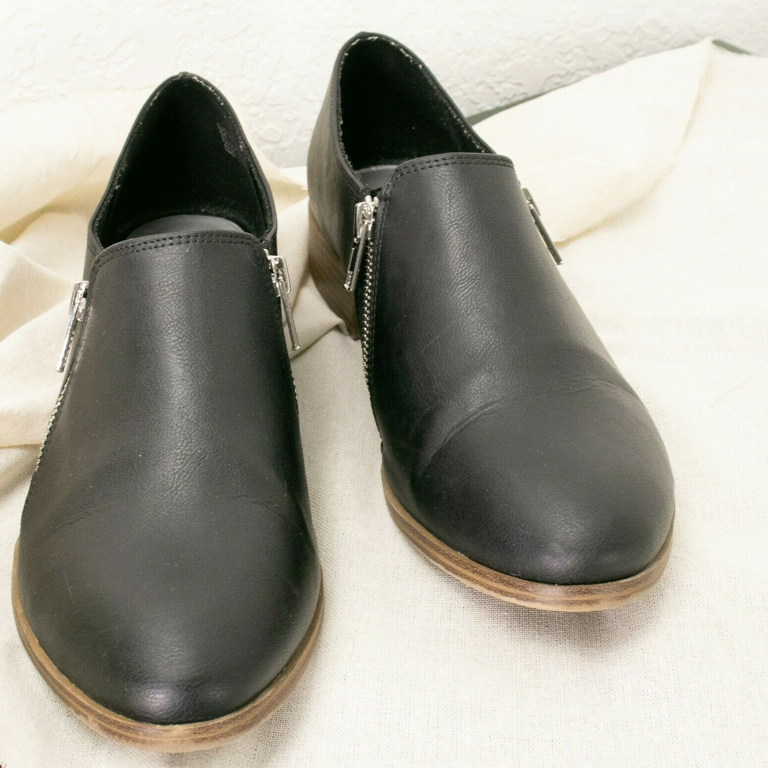 American Eagle Outfitters Dara Duel Zip Cheville Bootie Chaussure | Noir Sz 10 W EUC