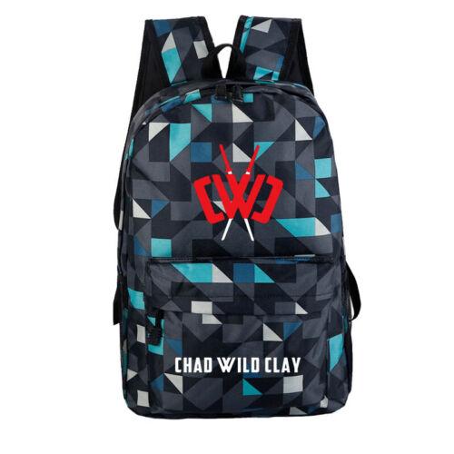 Chad Wild Clay Backpack Kids School Bag Students Bookbag Handbags Travelbag Gift