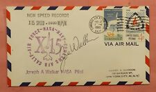 1961 PILOT JOE WALKER SIGNED X 15 AIRCRAFT SPEED RECORD FLIGHT EDWARDS AFB CA
