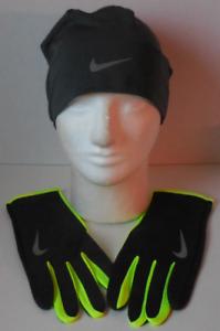 9b3e7ce00 NIKE Dri-Fit Men's Running Beanie/Gloves Set Anthracite/Volt/Silver ...