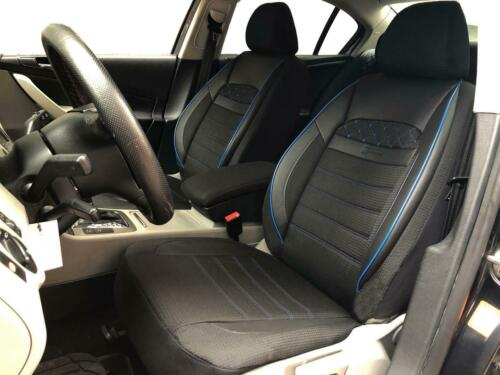 Sitzbezüge Schonbezüge für Audi A1 schwarz-blau V2324971 Vordersitze