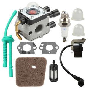 Ignition-Coil-Carburetor-Kit-For-STIHL-FS38-FS45-FS55-Weed-Eater-String-Trimmer