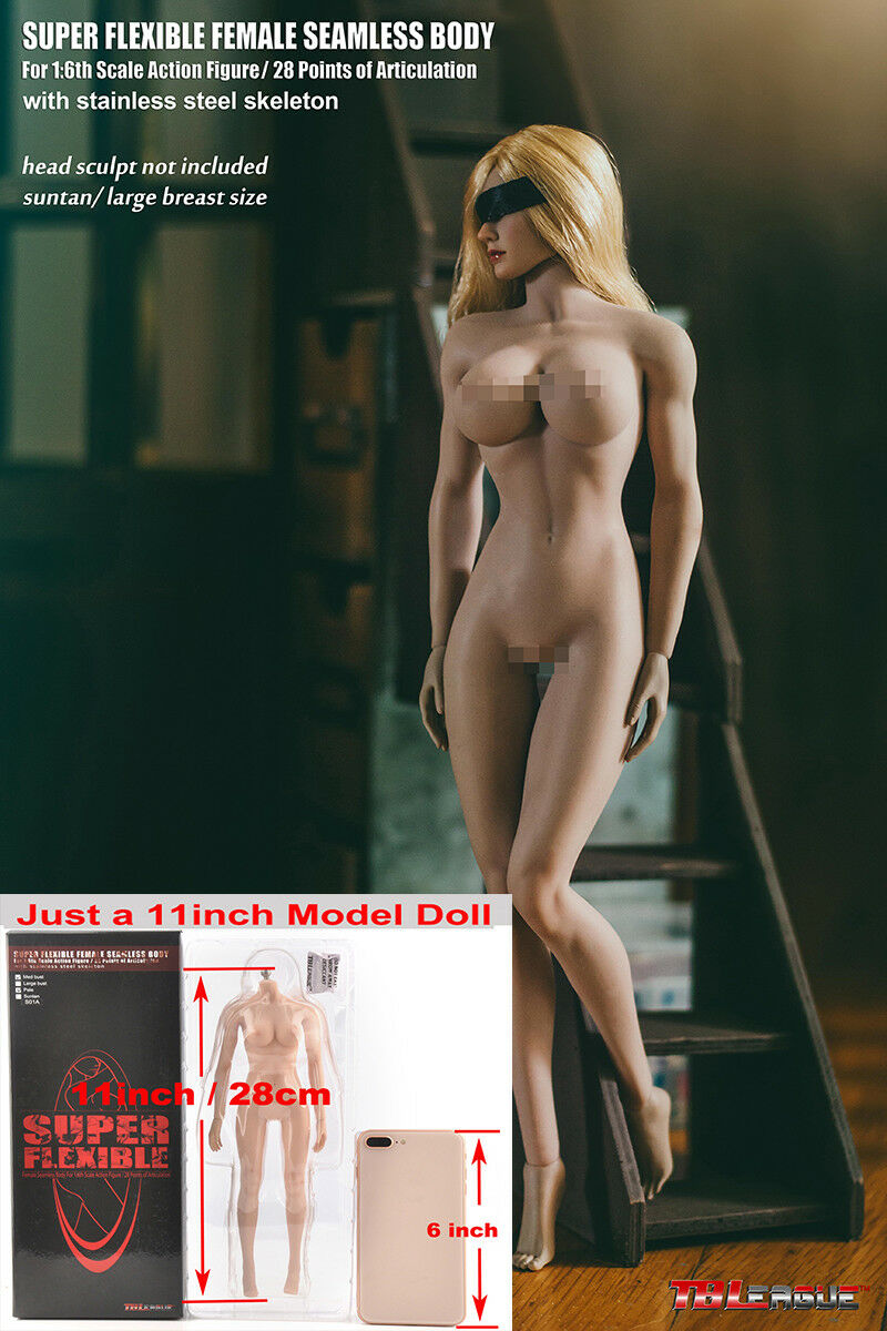 1 6 Female Girl Doll TBLeague Phicen Suntan Large Bust PLMB2017-S21B Body Figure