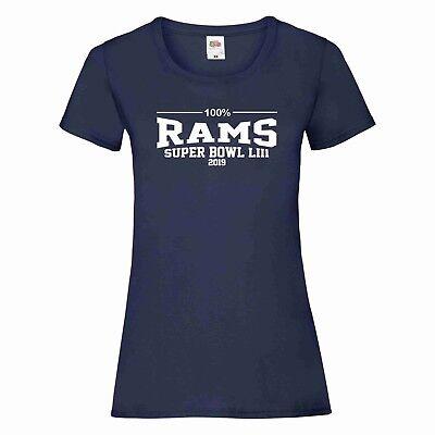 Puntuale 100% La Rams Super Bowl 2019 T-shirt Donna-