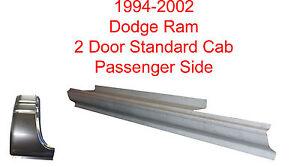Style Rocker Panel Passenger's 1994-2002 Dodge Standard or Club Cab Pickup O.E