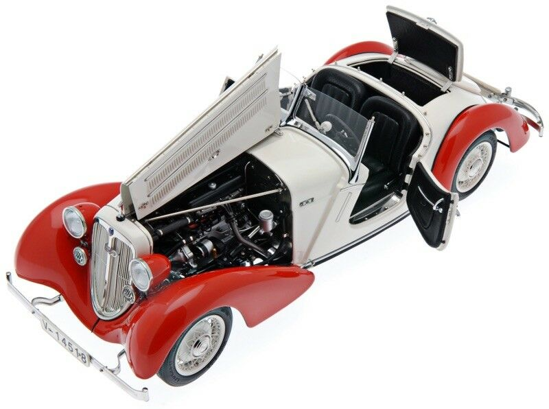 1935I 225 FRONT ROADSTER rouge blanc 1 18 DIECAST MODEL CAR BY CMC M075C