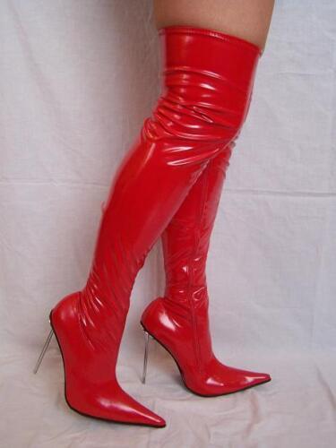 stiefel latex gummi Bolingier Poland size 35-47 heel 13cm High heels