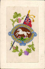 WW1 Regimental Silk. Northamptonshire Imperial Yeomanry by J.J., St Omer - Paris