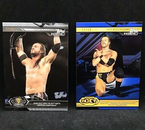 2019 Topps WWE NXT Autograph Shirt Relic Jersey Adam Cole
