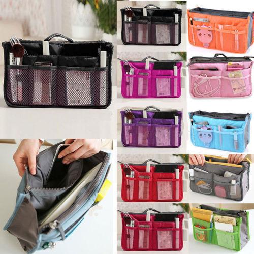 Lady Women Insert Handbag Organiser Purse Large liner Organizer Bag Tidy TravelF