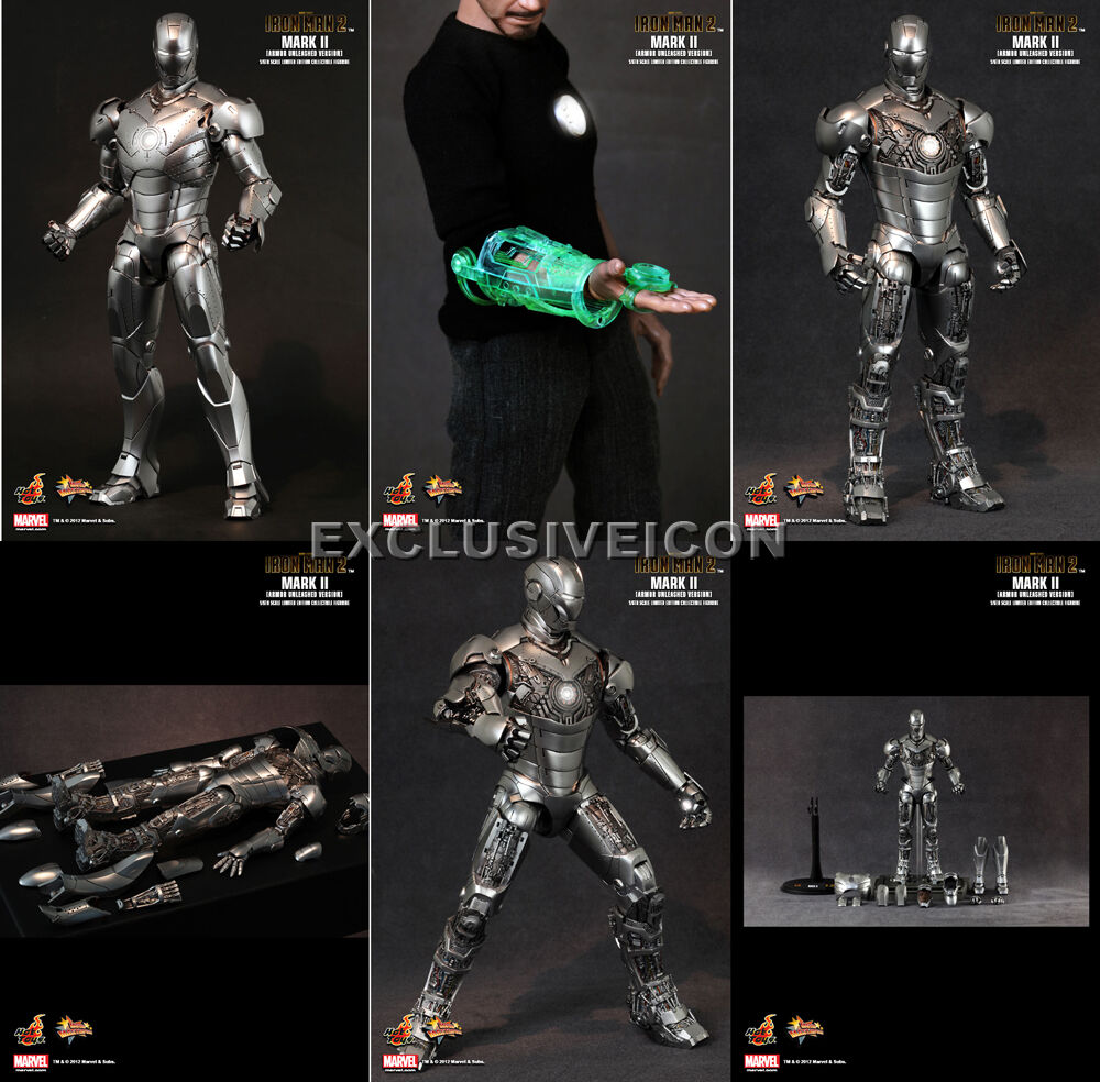 Hot Toys 1 6 MMS150 Iron Man Mark II 2.0 2.0 2.0 Armor Unleashed VIP Exclusive Canadian 152771