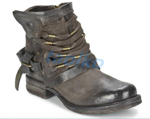 Womens Genuine Leather Punk Buckle Motorcycle Military Combat Ankle Boots shoes