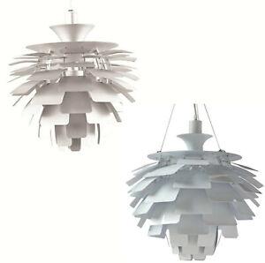 White-or-Silver-Artichoke-Leaf-Pendant-Aluminum-Hanging-Lamp-Chandelier-23-034-Dia