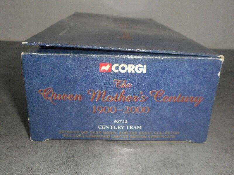 CORGI THE QUEEN MOTHER'S MOTHER'S MOTHER'S CENTURY N°36712 TRAM b9b59b