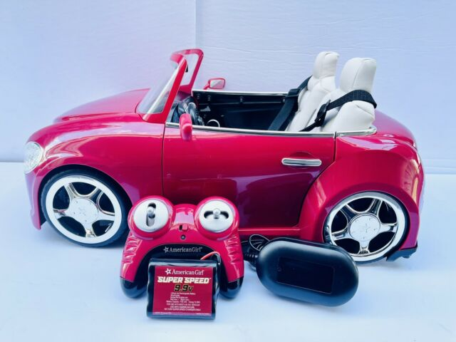 American Girl Doll Red RC sport SPORTS CAR for Luciana Joss Blaire - (SKU-E)