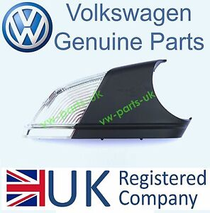 ORIGINALE-VW-SPECCHIETTO-LATERALE-INDICATORE-TURN-SIGNAL-driver-LATERALI-DESTRA-POLO-OCTAVIA-LED