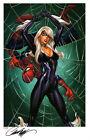 J SCOTT CAMPBELL BLACK CAT & SPIDER-MAN SDCC 2014 SIGNATURE EDITION ART PRINT