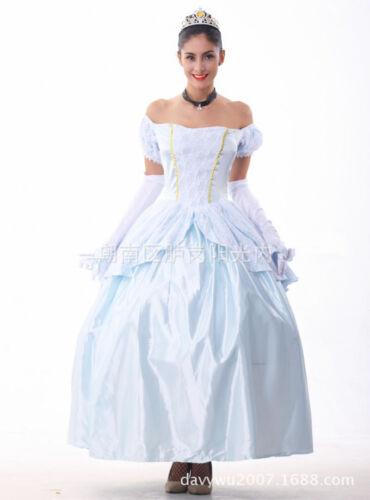 Cinderella Ladies Princess Cosplay Costume Women/'s Girls Wedding Dress Party