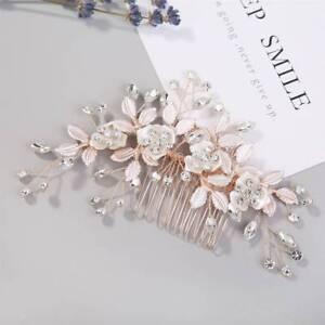 Rose-Gold-Crystal-Hair-Comb-Wedding-Hair-Accessories-Handmade-Bride-Hair-Jewelry