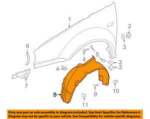 Set of 2 LH /& RH Front Inner Fender Splash Shield Liner Fits Volkswagen Beetle