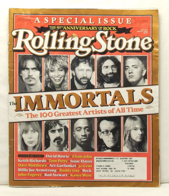ROLLING STONE MAGAZINE #972 Immortals Clapton Zappa Axl Rose April 21 2005 B7
