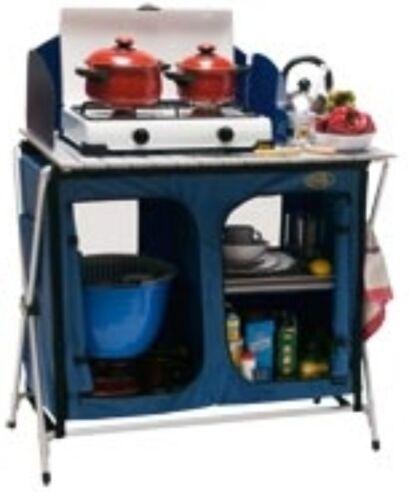 Bleu rapidement Construction Système Pour Camping Cuccinella Quick Camping Cuisine Aluminium