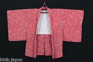 Haori-japonais-Rose-motifs-floraux-Veste-Import-Japon-1370