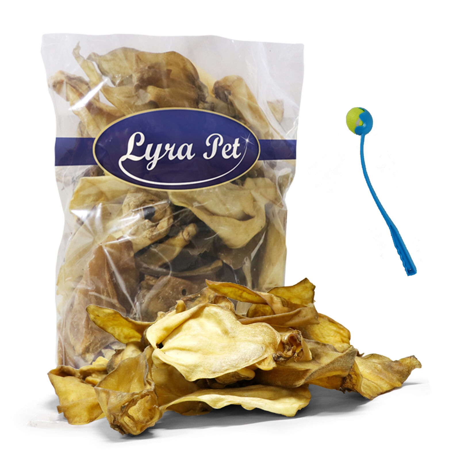 200 Stück Rinderohren ca. 14 kg Hundefutter Ohren Rind Lyra Pet ® +Ballschleuder