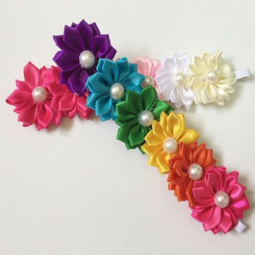 Hair Accessories Six Flower Pearl Headbands Girl/'s Headwear Candy Colors