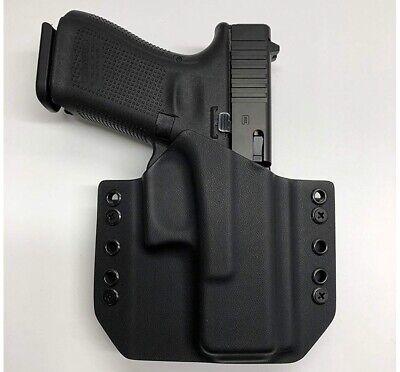 Glock 19 //19x //23//25//45 OWB  Carbon fiber Black orange Kydex Holster