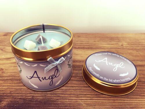 """Personnalisé anniversaire /""""ANGEL/"""" Parfum hautement Bougie Parfumée Tin-Cadeau"""