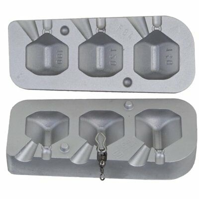 Aluminium Mould produces 3 Dumpy Dice sinker weight  Carp  Barbel Chub ledgering