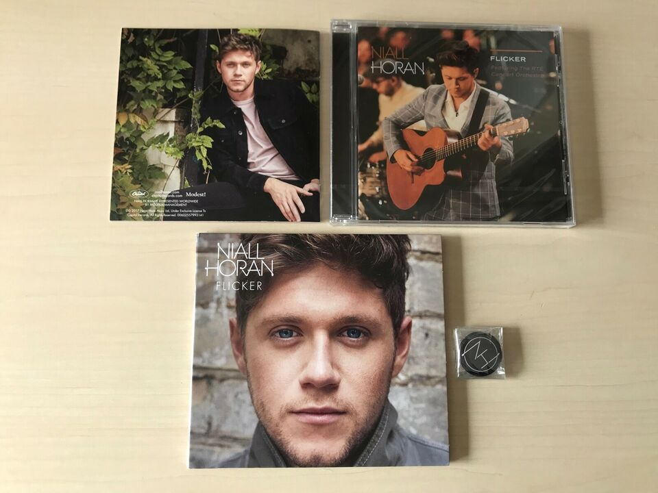 Niall Horan : Flicker Deluxe CD, Flicker Live CD og badge,