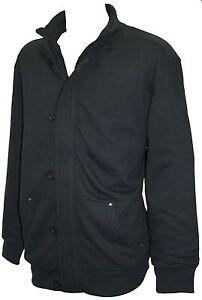 Spionage jas Button sweatshirt zwart Up Zip qBvwUB