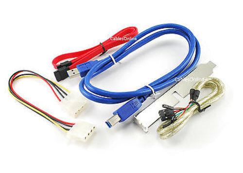 """3.5/"""" Front Panel 4Port USB 3.0// FireWire 4-Pin /& 6-Pin// eSATAp Port Internal Hub"""