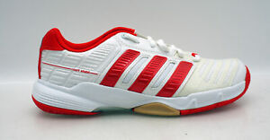 Details zu adidas court stabil 10 W Hallen Sport Fitness Schuhe weiß rot
