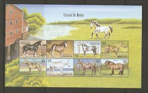 Central-African-Republic-Sc-1286-Horses-Of-The-world-Miniature-Sheet-MNH