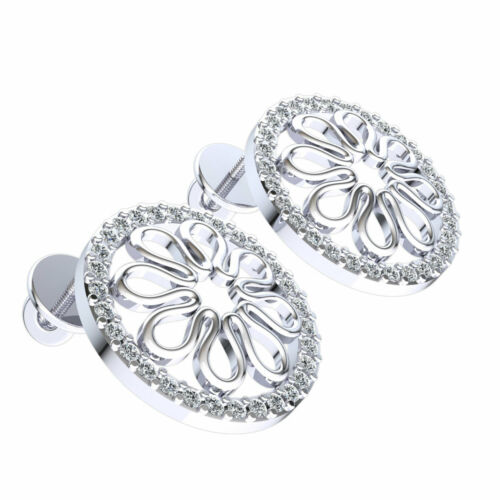 Details about  /Real 0.25carat Round Cut Diamond Ladies Circle Studs Earrings Solid 14K Gold
