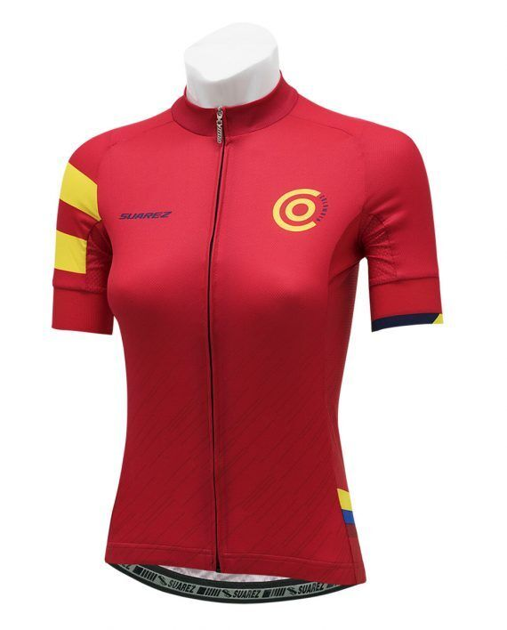2018 Suarez Colombian Collection  Women's Short Sleeve Cycling Jersey in Red