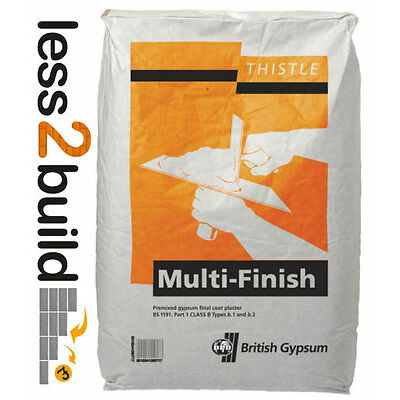 BRITISH GYPSUM THISTLE MULTI FINISH PLASTER 25KG BAG HIGH QUALITY SURFACE FINISH