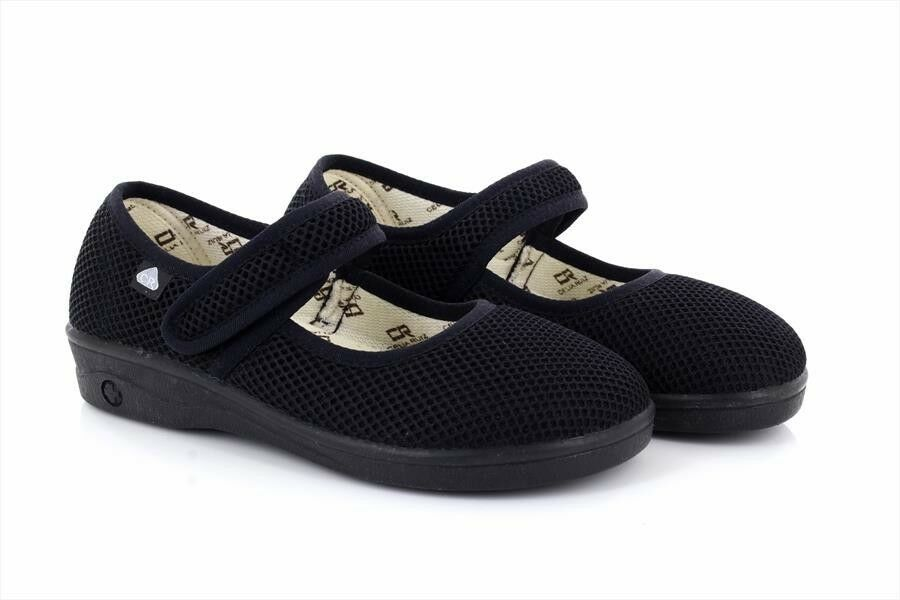 Celia Ruiz Extra Black Mesh Touch Fastening Extra Ruiz Wide Canvas Shoes ffd808