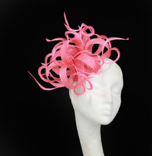Coral Fascinator Hat for Weddings//Ascot//Proms With Headband K3