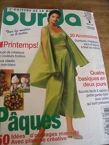 MAGAZINE-BURDA-2-PATRONS-CREATEUR-GERARD-J-BORG-LOK-CITADIN-NOIR-amp-BLANC-1995