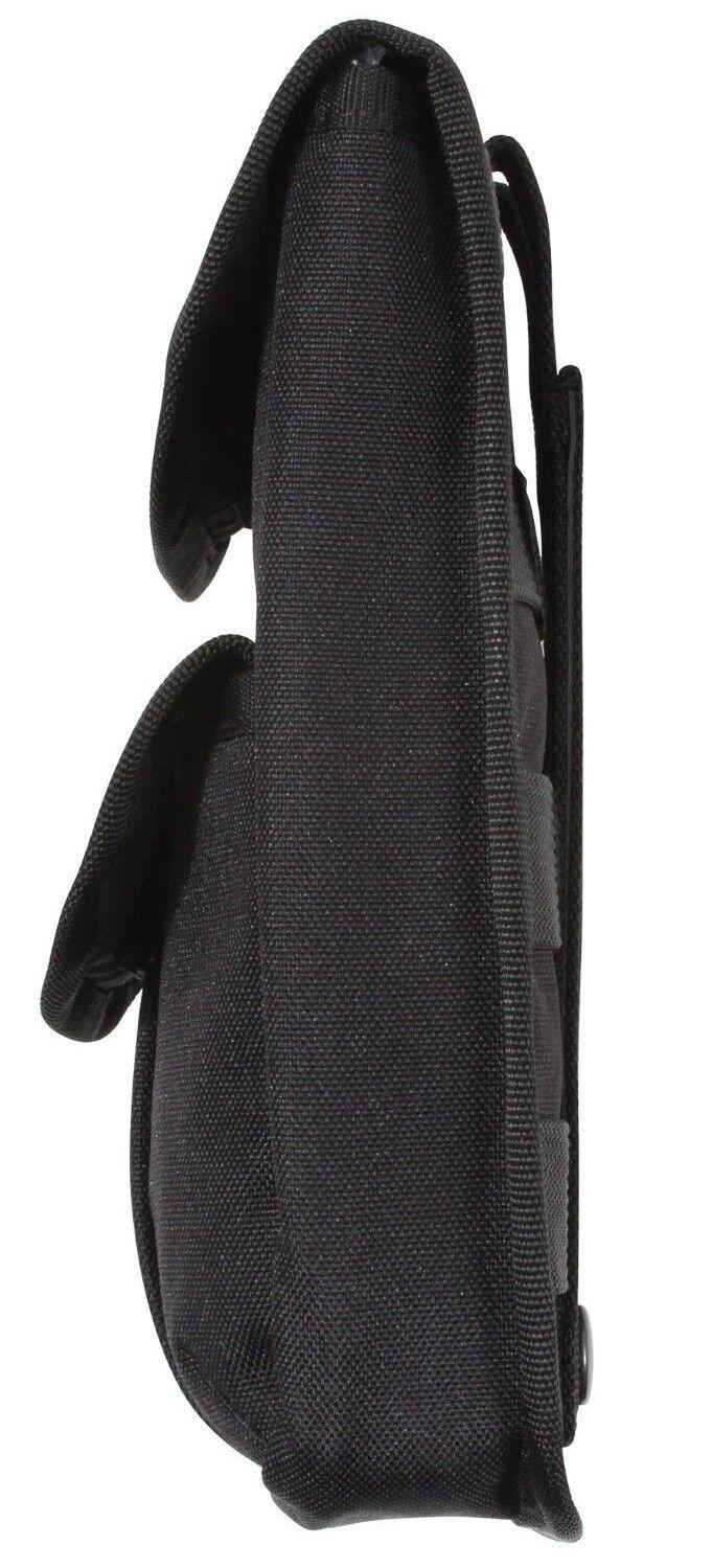 Bolsa Bolsa Bolsa Portamunición 2 Bolsillos Molle Modular Negro Bolsa Práctica Rothco 9509 15519f