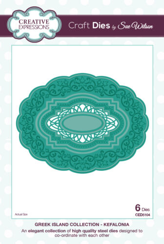 1 of 1 - Creative Expressions GREEK ISLAND COLLECTION Kefalonia CED5104 by Sue Wilson