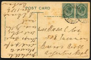 Britannique-de-l-039-Afrique-du-Sud-ARGENTINE-carte-postale-diffuse-vers-1920
