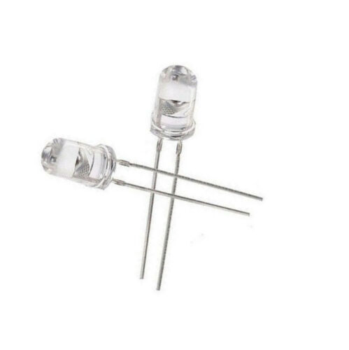 50PCS 5mm Round Blue Water Clear LED Light Diodes