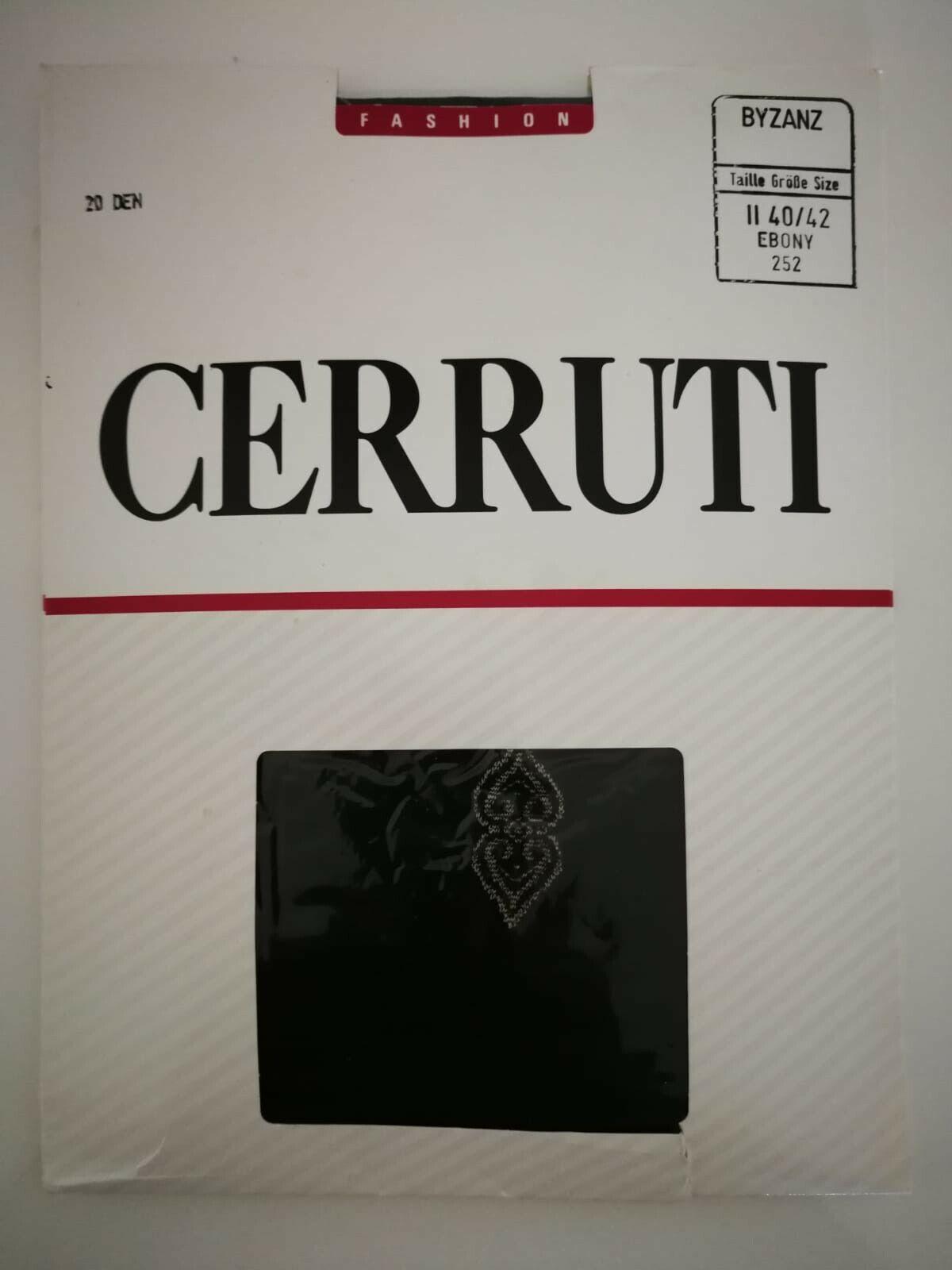Feinstrumpfhose Cerruti 1881 • Größe 40/42 • mit Muster